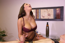 Busty Babe Jamie Does Not Intend To Make Him Cum So Easily - Picture 7