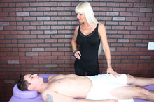 Hot Blonde Milf Kasey Giving Her Customer A Mean Happy Ending - Picture 1