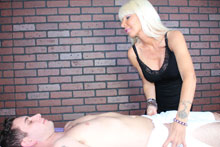 Hot Blonde Milf Kasey Giving Her Customer A Mean Happy Ending - Picture 3
