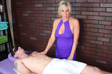 Payton Gets Her Client Blindfolded Teased And Eventually Brought To An Intense Orgasm - Picture 1